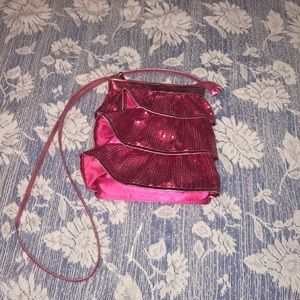 Girl Pink Ruffle purse